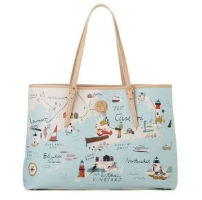 Greetings from Northeastern Harbors  Large Map Tote